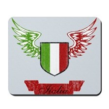 Vintage Italia Flag Wings Mousepad