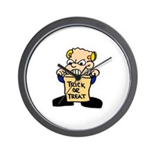 Trick or Treat Kid Wall Clock