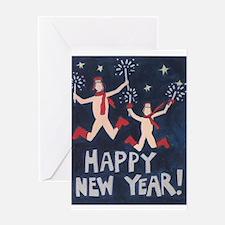 Happy New Year Nudist Greeting Card