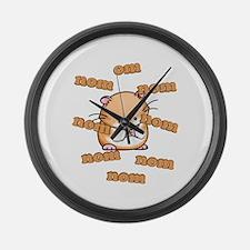 Om Nom Hamster Large Wall Clock