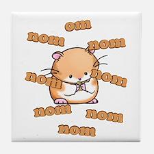 Om Nom Hamster Tile Coaster
