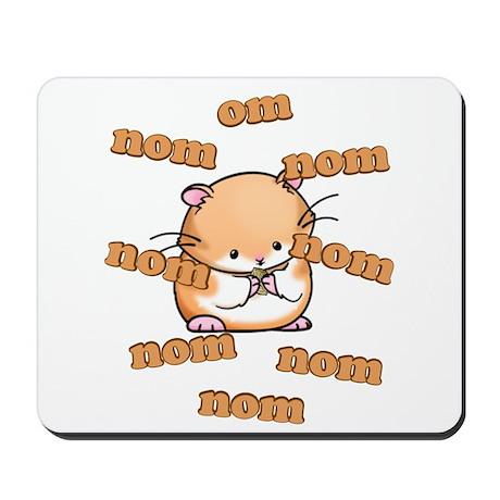 Om Nom Hamster Mousepad