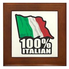 100% Italian Framed Tile