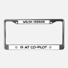 Co-pilot: Welsh Terrier  License Plate Frame