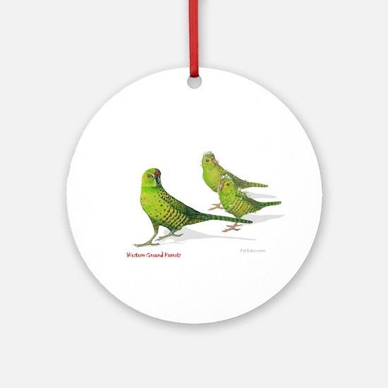 Western Ground Parrot Ornament (Round)