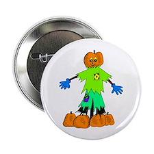 """Pumpkin Man 2.25"""" Button"""