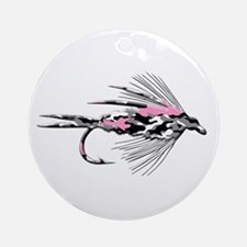 PINK CAMO FLY Ornament (Round)