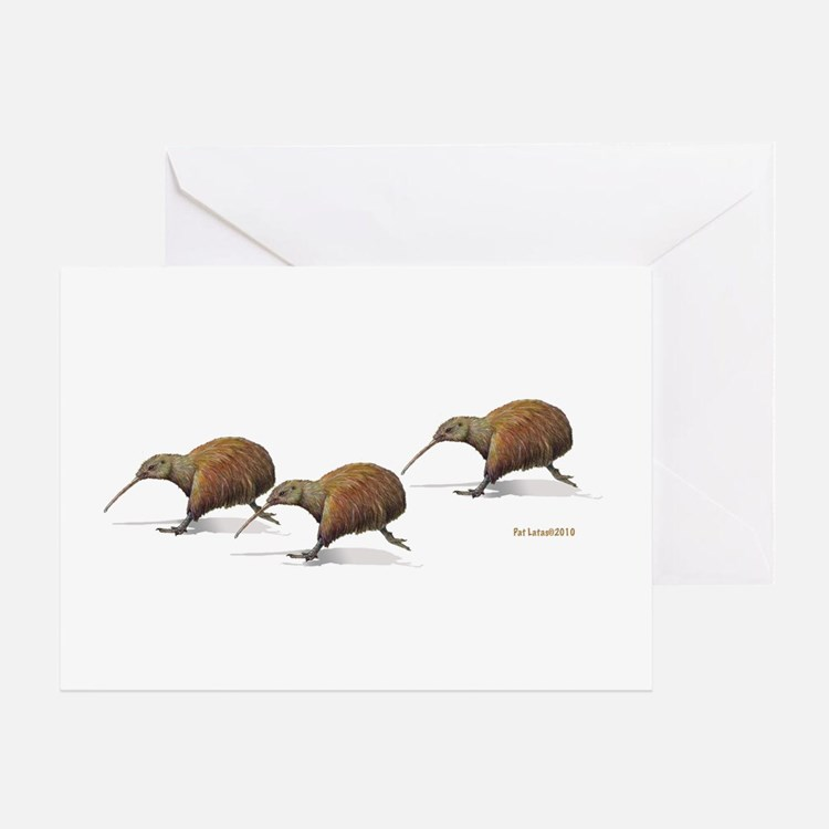 Kiwi Race Greeting Card