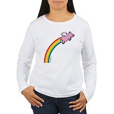 Flying Pig Rainbow T-Shirt