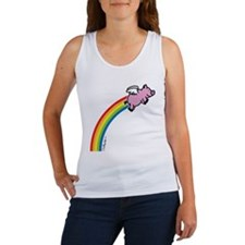 Flying Pig Rainbow Women's Tank Top