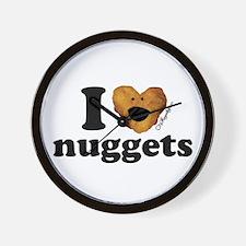 I Love Nuggets Wall Clock