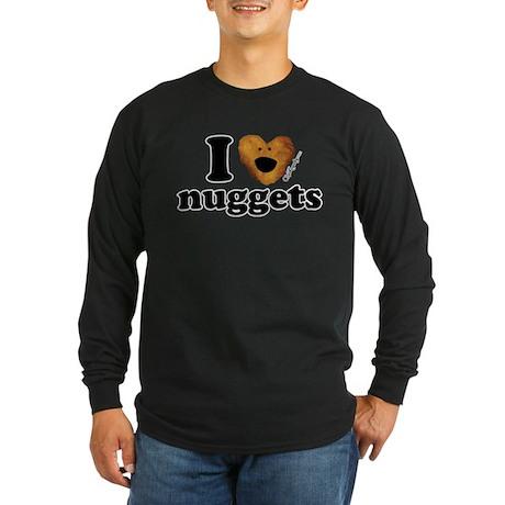 I Love Nuggets Long Sleeve Dark T-Shirt
