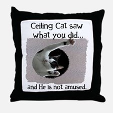 Ceiling Cat Throw Pillow