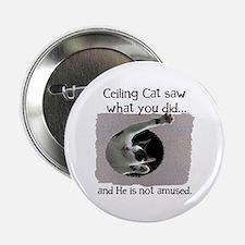 "Ceiling Cat 2.25"" Button"