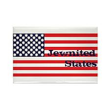 Jewnited States Rectangle Magnet