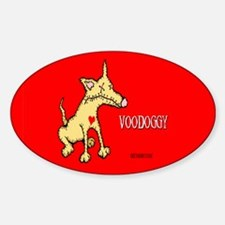 Angry Johnny's Voodoo Town Oval Decal