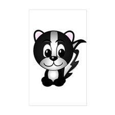 Skippy The Skunk Rectangle Decal