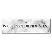He Who Must Be Obeyed Bumper Bumper Sticker