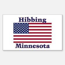 Hibbing US Flag Rectangle Decal