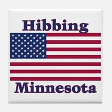 Hibbing US Flag Tile Coaster