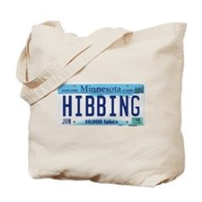 Hibbing License Plate Tote Bag
