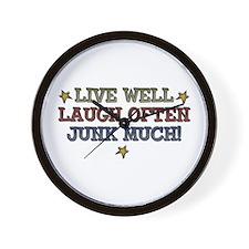 Live Well Laugh Often Junk Much Wall Clock