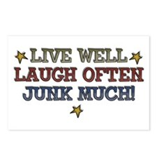 Live Well Laugh Often Junk Much Postcards (Package