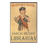 Radical militant librarian Postcards