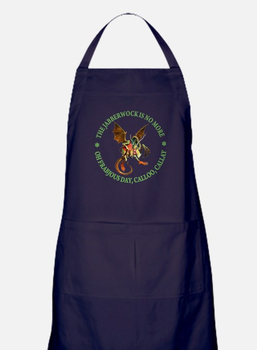 THE JABBERWOCK IS NO MORE Apron (dark)