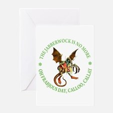 THE JABBERWOCK IS NO MORE Greeting Card