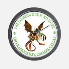 THE JABBERWOCK IS NO MORE Wall Clock