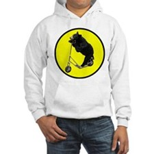Black bear riding scooter Hoodie Sweatshirt