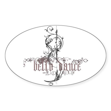 Belly Dance Sticker (Oval 10 pk)