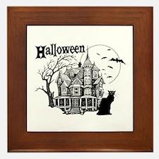 Haunted House - Framed Tile