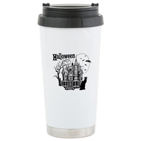 Haunted House - Stainless Steel Travel Mug
