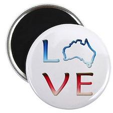 """LOVE Australia 2.25"""" Magnet (10 pack)"""