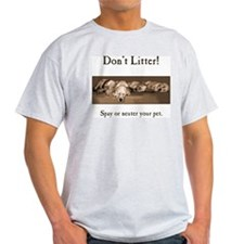 Don't Litter! Ash Grey T-Shirt