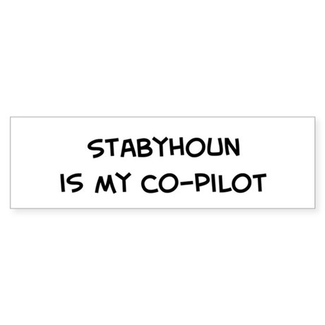 Co-pilot: Stabyhoun Bumper Sticker