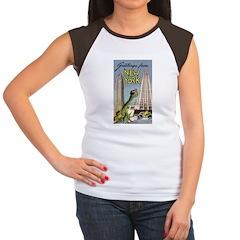 Greetings From New York Women's Cap Sleeve T-Shirt