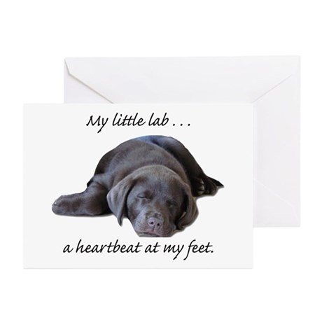 Chocolate Lab Heartbeat Greeting Cards (Package of