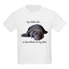 Chocolate Lab Heartbeat Kids T-Shirt