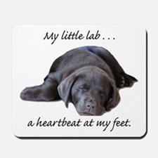 Chocolate Lab Heartbeat Mousepad