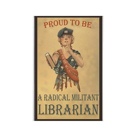Radical Militant Librarian Rectangle Magnet