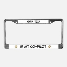 Co-pilot: Shih Tzu License Plate Frame