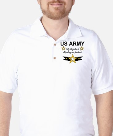 Army Step Son Defending Golf Shirt