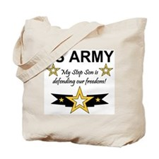 Army Step Son Defending Tote Bag