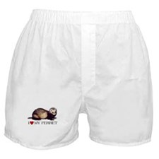 Boxer Shorts - I love my ferret