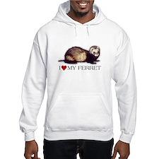 Hoodie - I love my ferret