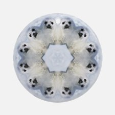 Harp Seal Mandala Ornament (Round)