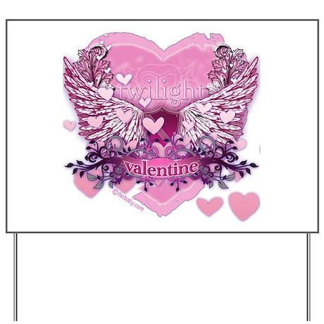 Twilight Valentine Heart Wings Yard Sign